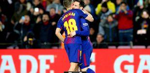 Post de A Jordi Alba le quitaron de delante a Neymar y le abrieron el camino a Messi