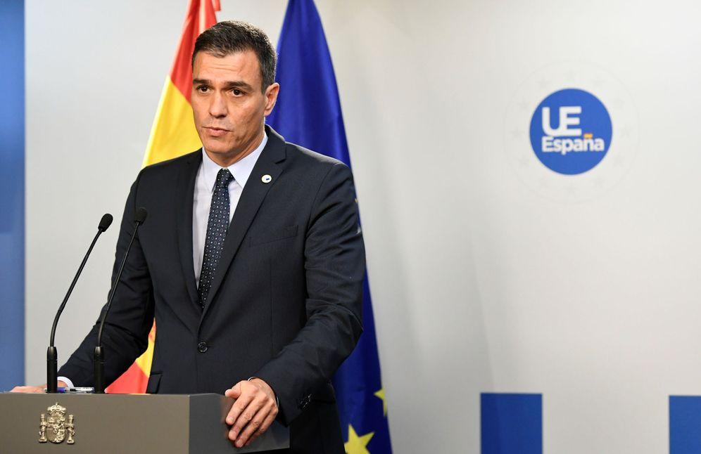 Foto: Pedro Sánchez, este 18 de octubre en Bruselas, tras la cumbre del Consejo Europeo. (Reuters)
