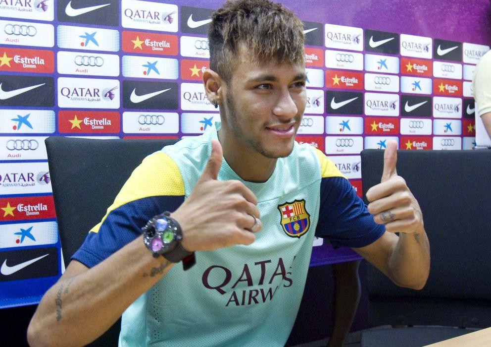 Foto: Neymar durante su rueda de prensa (Efe).