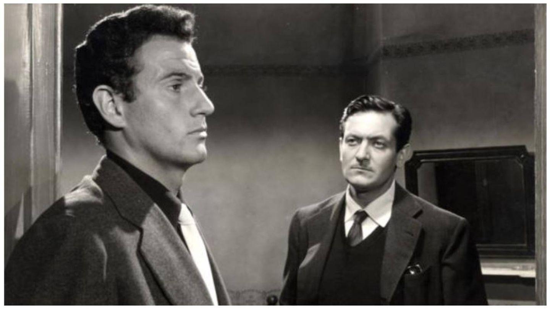 Dos de los hombres más elegantes del cine, Arturo Fernández y Alberto Closas,  compartieron escenas en 'Distrito Quinto'. (Juro Films)