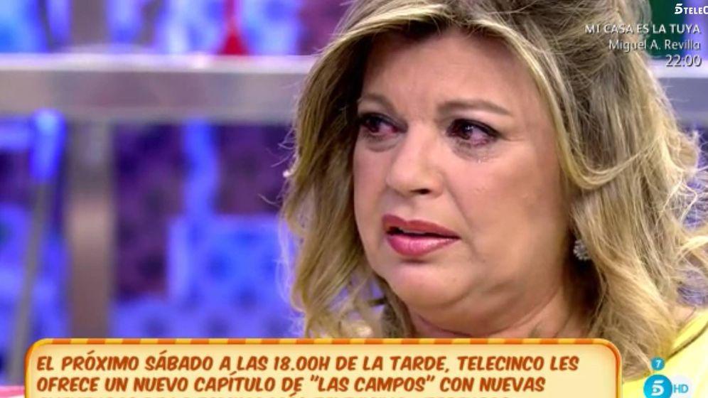 Foto: Lágrimas de Terelu ante las palabras de Jorge Javier en 'Sálvame'.