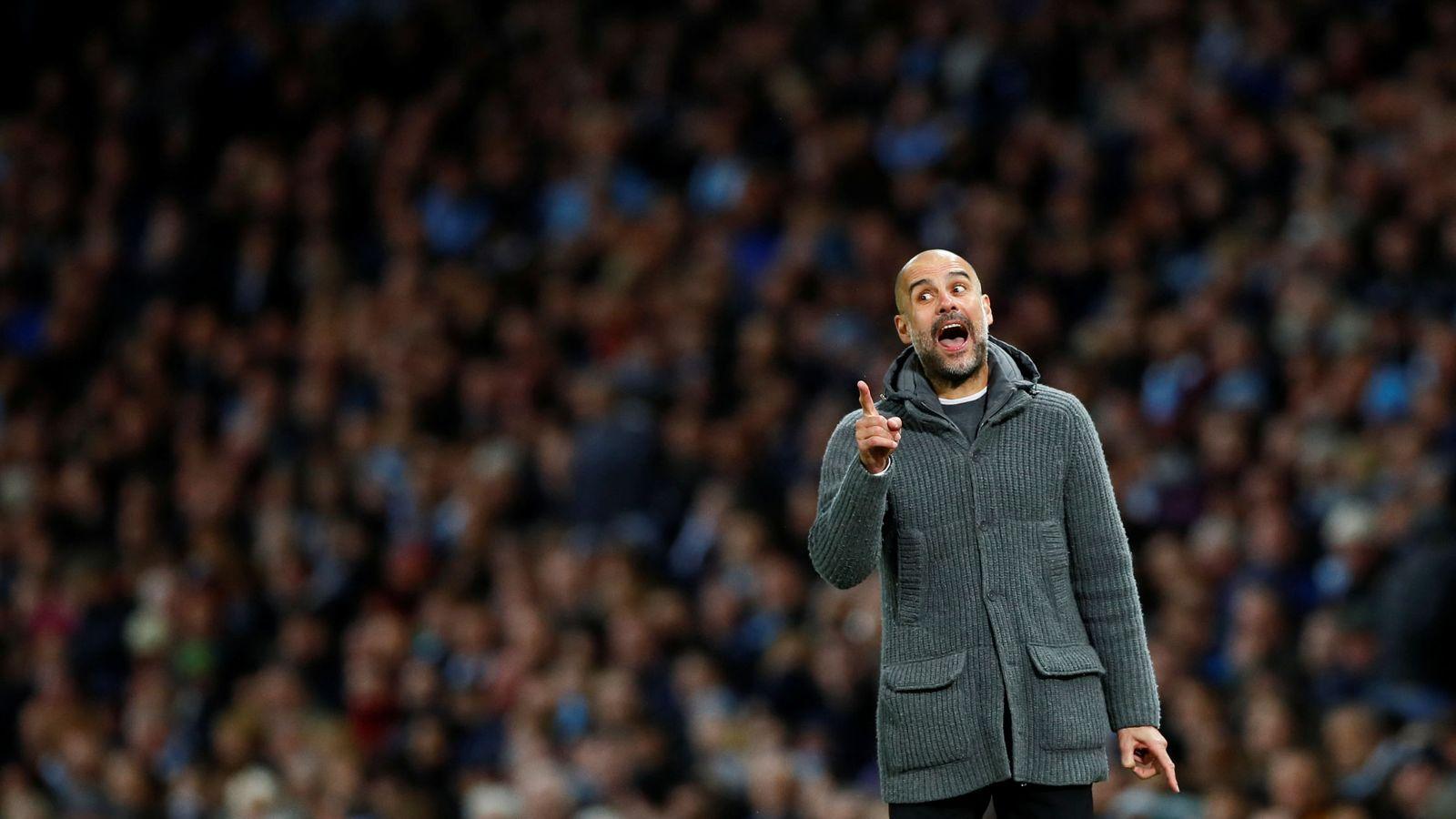 Foto: Pep Guardiola en un partido con el Manchester City. (Reuters)