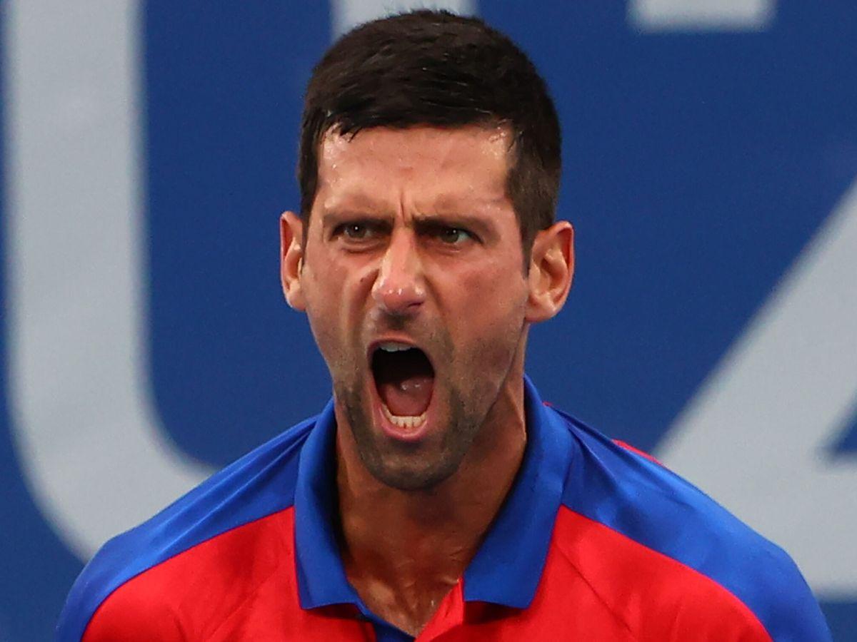 Foto: Novak Djokovic grita tras ganar un partido en los Juegos Olímpicos de Tokio. (EFE)