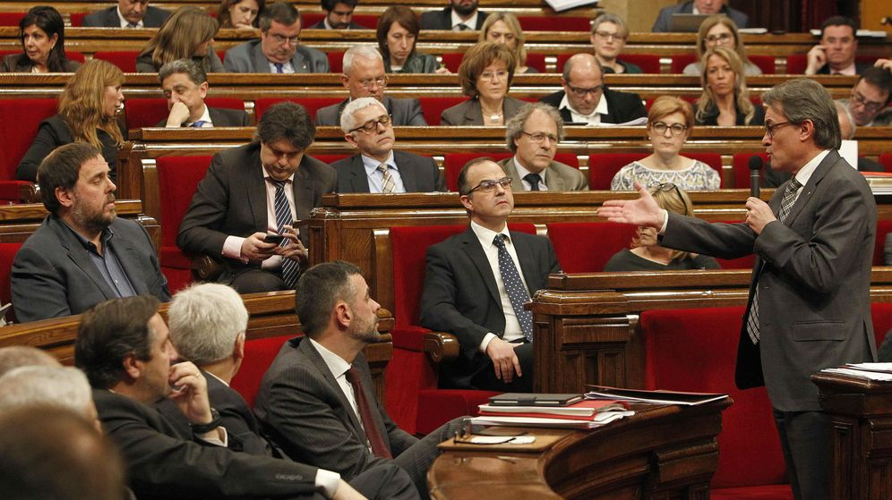 Foto: El presidente de Cataluña, durante una sesión del Parlamento catalán. (EFE)
