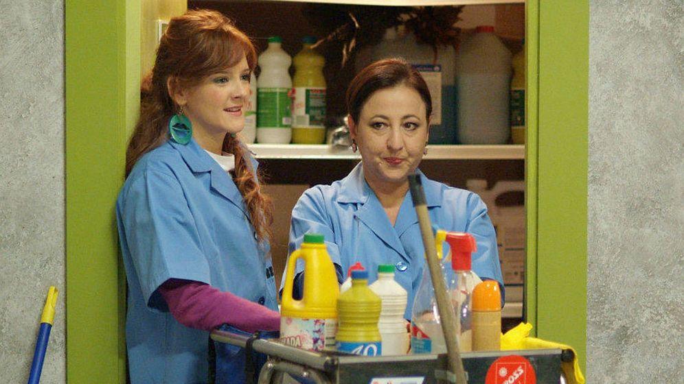 Foto: Carmen Machi con Ana Polvorosa en 'Aída'. (Mediaset España)