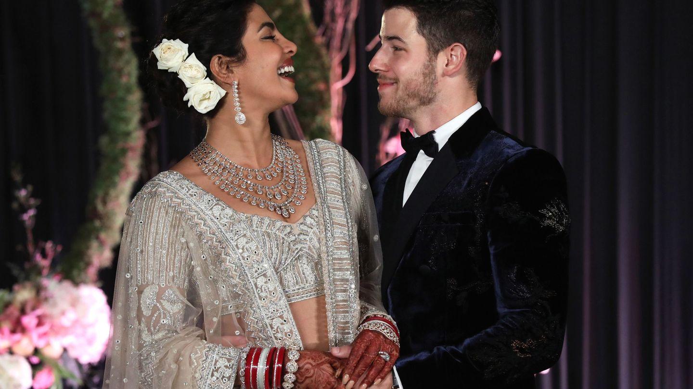 Priyanka Chopra y Nick Jonas, en su boda a principios de diciembre (EFE /Rajat Gupta)