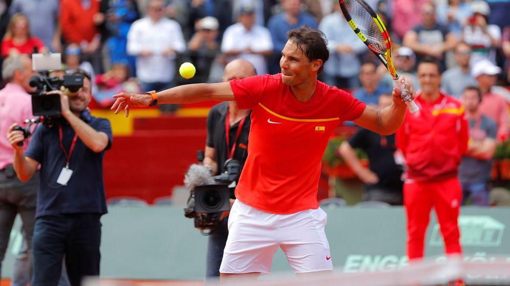 Foto: Nadal, jugando con España en la Davis. (Reuters)