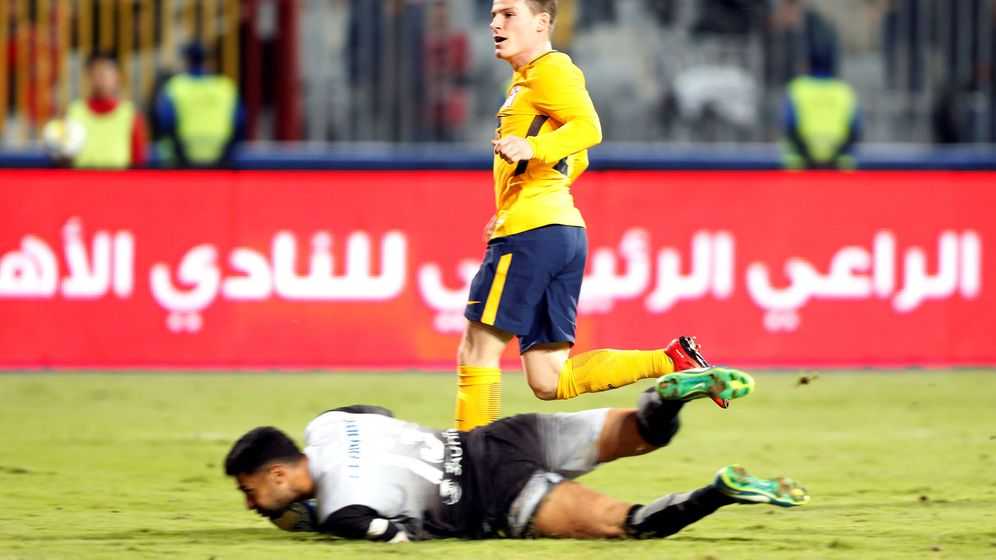 Foto: Gameiro evitó la derrota del Atlético en Egipto. (Reuters)