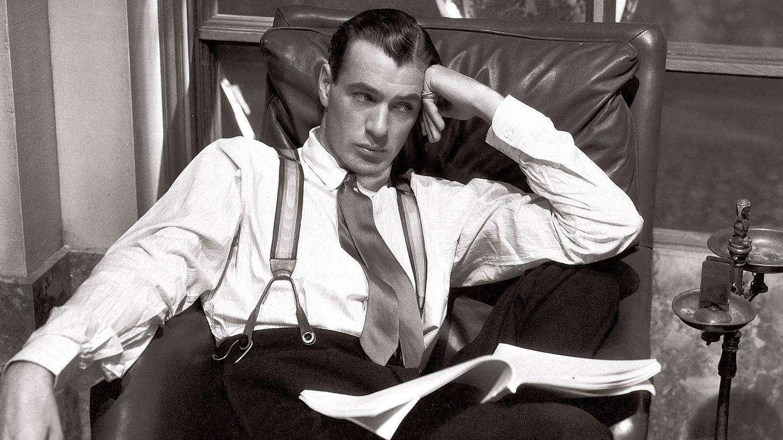 Foto: Gary Cooper, epítome de la elegancia masculina, fotografiado en 1932.