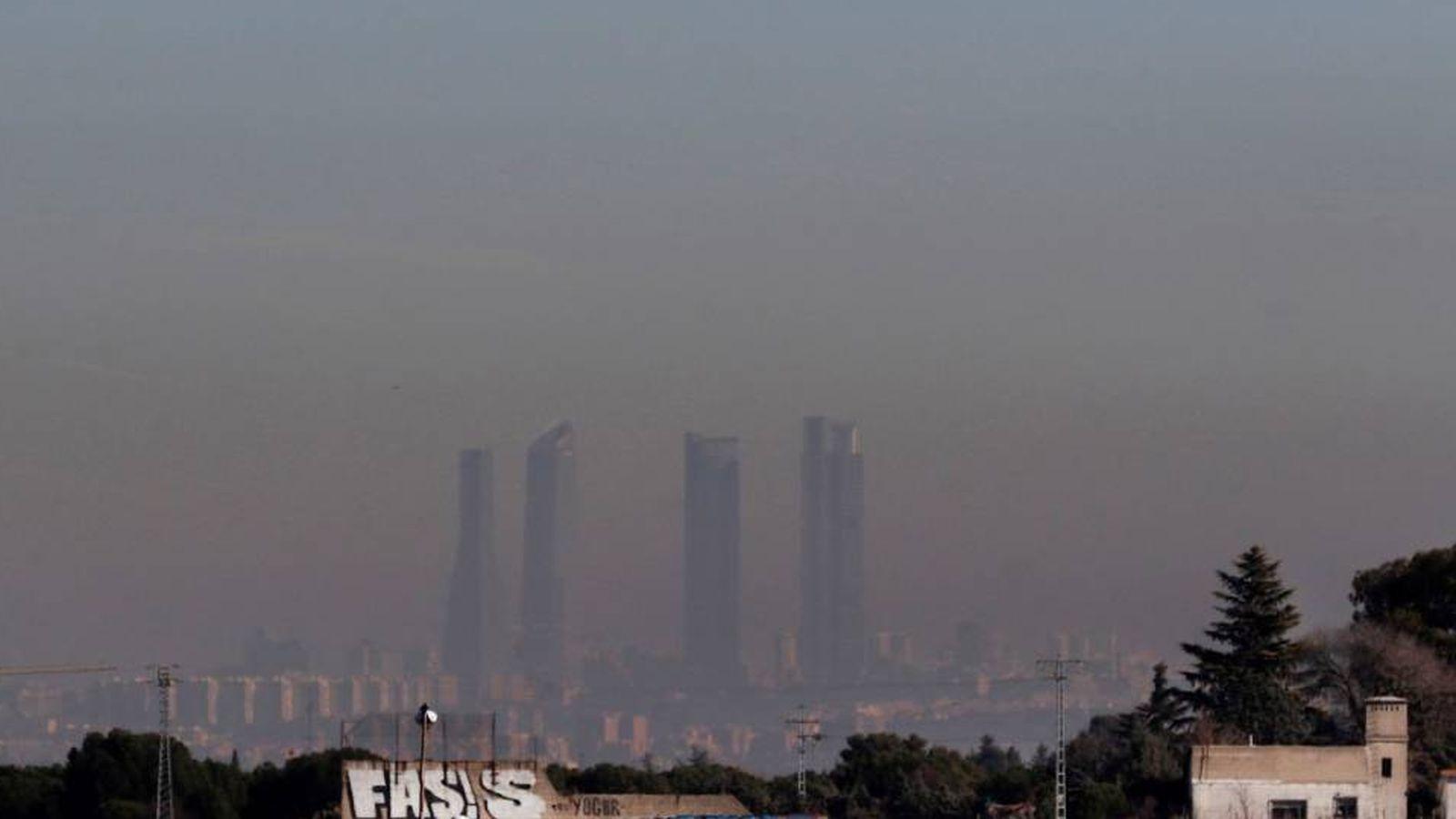 Foto: Contaminación de Madrid. (EFE)