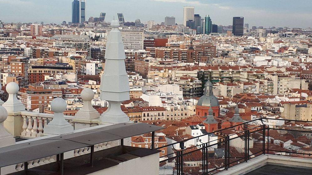 Foto: Vistas desde la azotea del Edificio España.