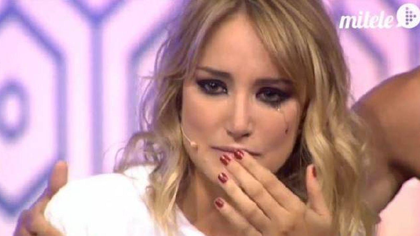 Foto: Alba Carrillo durante su entrevista en 'Hable con ellas'