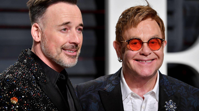 David Furnish y Elton John, en una foto de archivo. (Getty)
