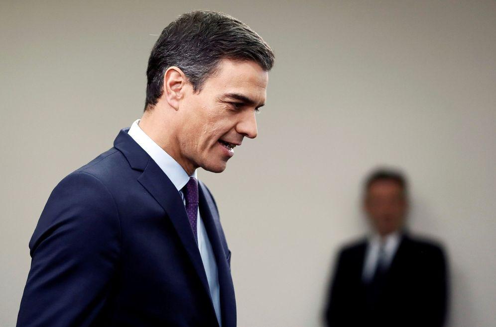 Foto: Pedro Sánchez, antes de su comparecencia este 4 de febrero en el palacio de la Moncloa. (EFE)