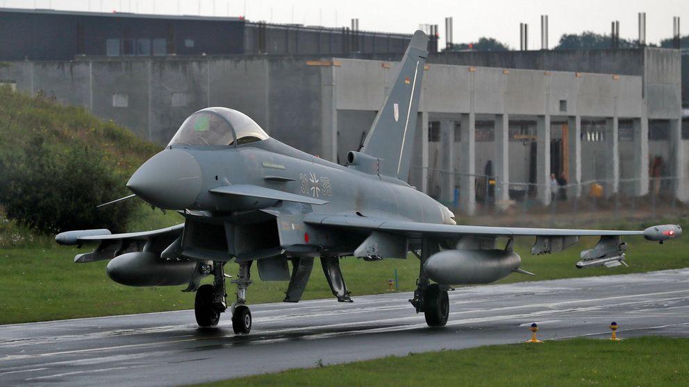 Un piloto fallece en el choque de dos aviones Eurofighter en Alemania