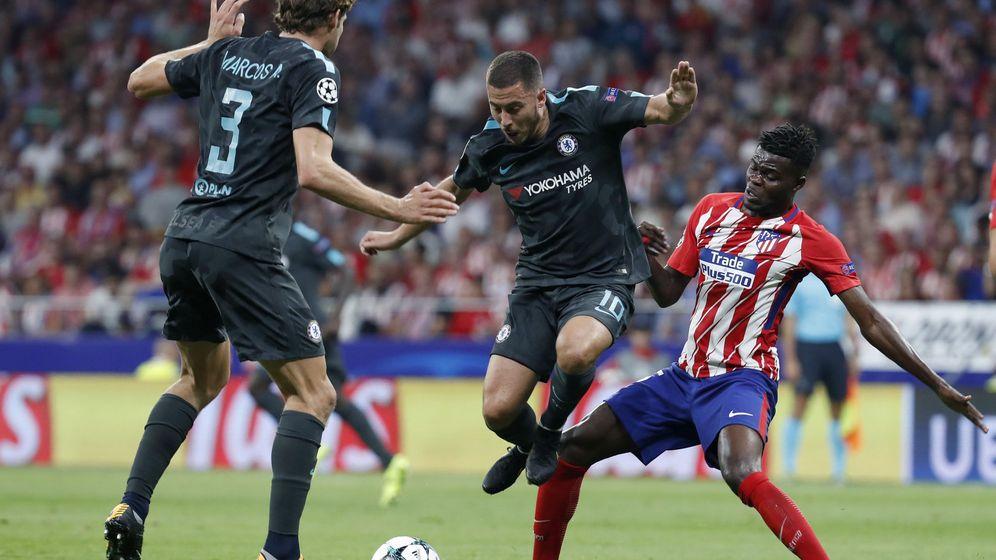 Foto: Thomas Partey, contra el Chelsea. (EFE)
