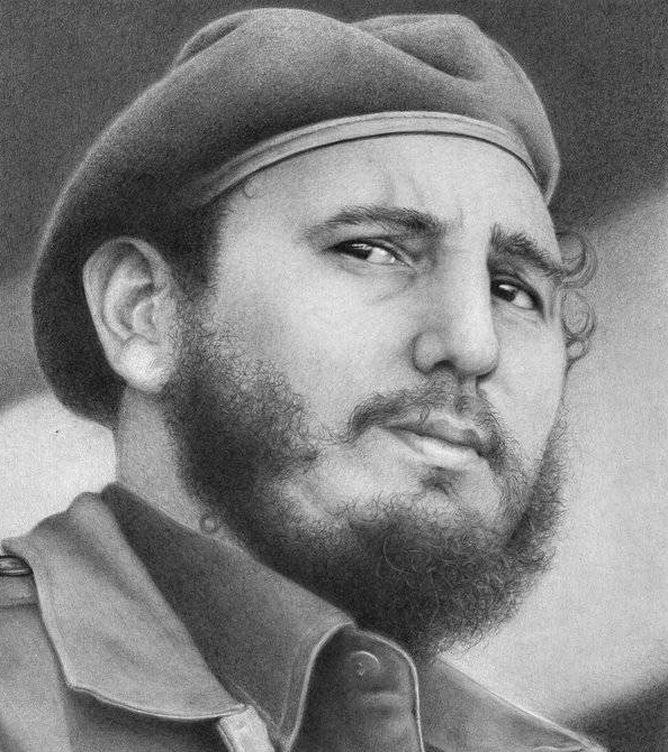 Foto: Fidel Castro retratado por Liborio Noval