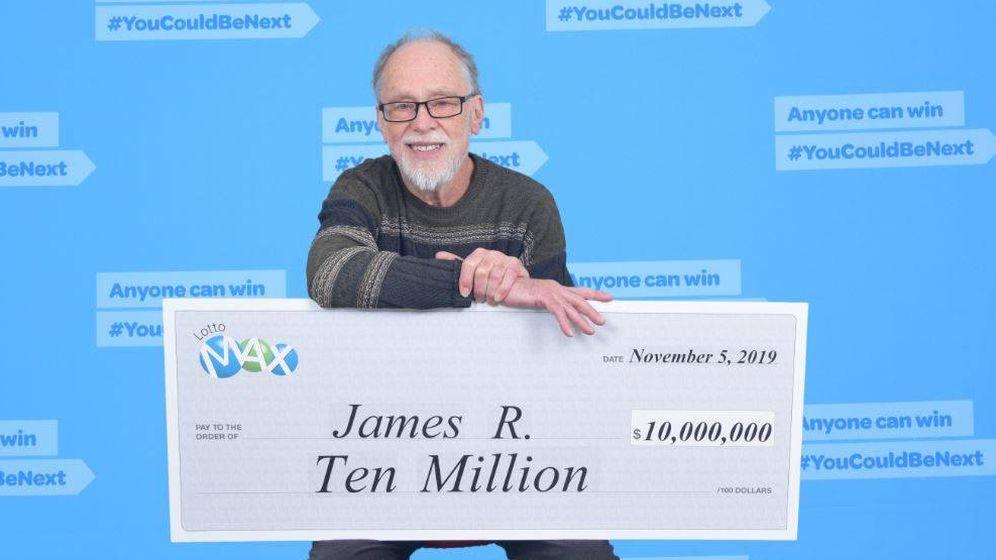 Foto: James Russell ha ganado 10 millones de dólares, pero no piensa cambiar su tranquilo estilo de vida (Foto: BC Lottery)