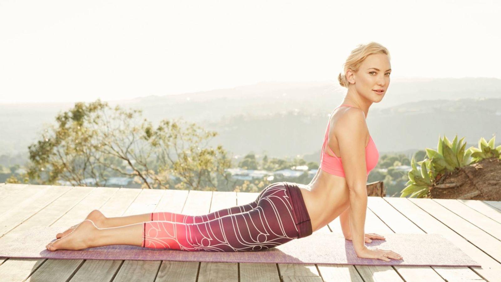 Foto: Kate Hudson en un anuncio de su firma de ropa deportiva, Fabletics.