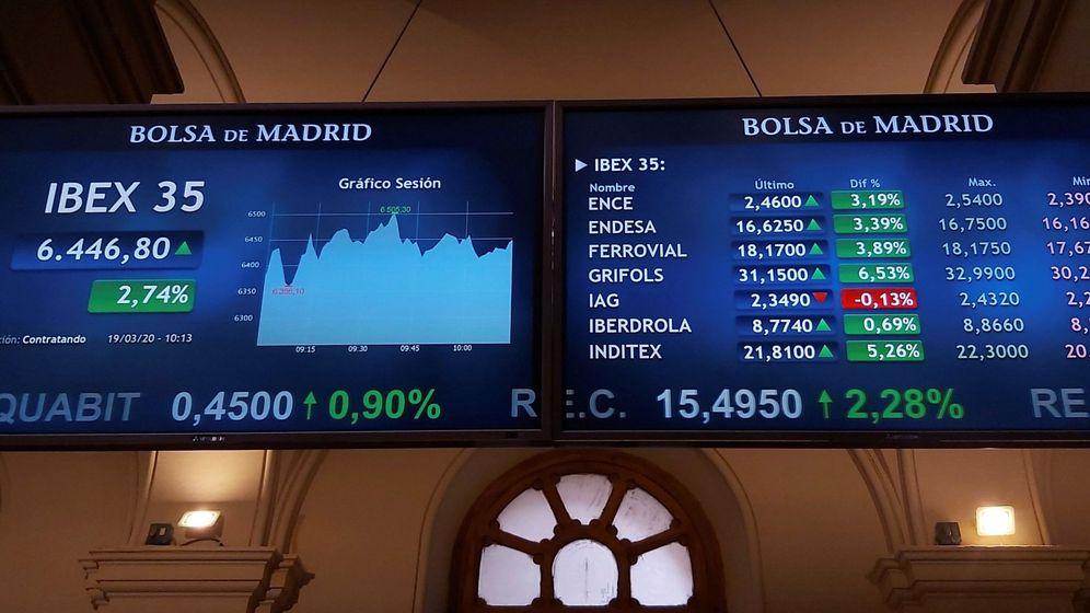 Foto: Imagen de gráficos del Ibex. (EFE)