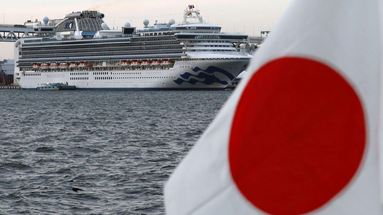 Última hora del coronavirus: Japón eleva a 542 los casos confirmados en el crucero