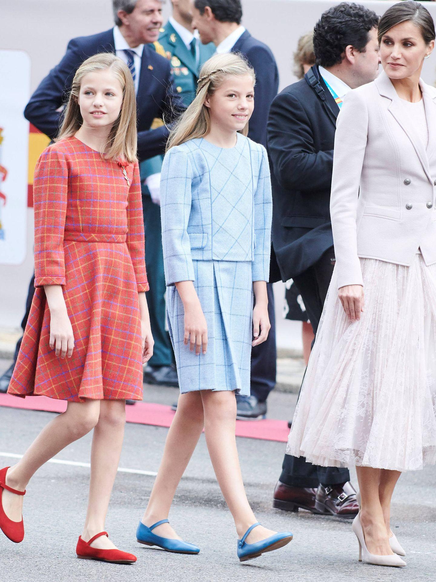 Letizia, Leonor y Sofía. (Limited Pictures)