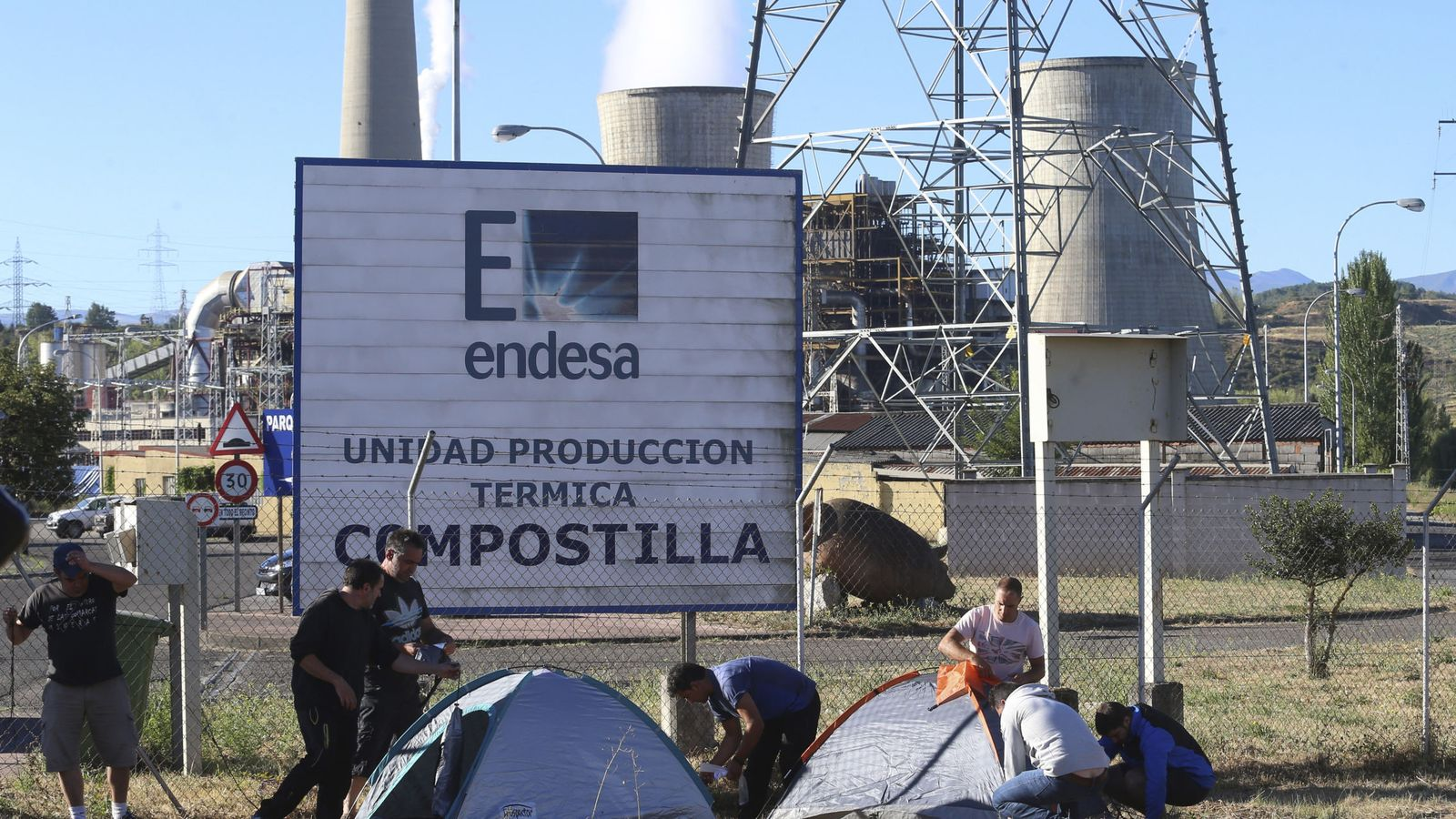 Foto: Planta de Compostilla en León. (EFE)