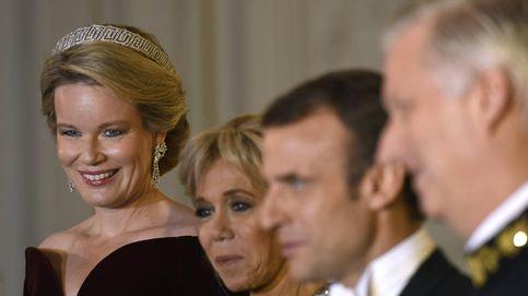 Cena de gala en Bélgica: la poca originalidad de Brigitte Macron y la elegancia de Matilde