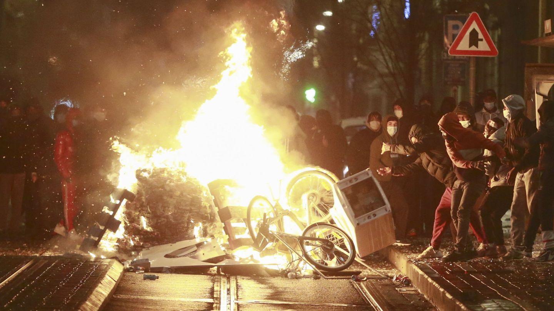 Disturbios en Bruselas este miércoles. (EFE)