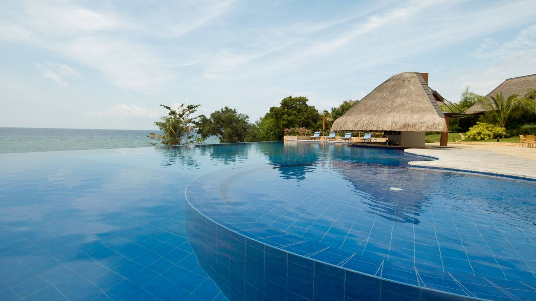 Un maravilla de piscina en Filipinas.