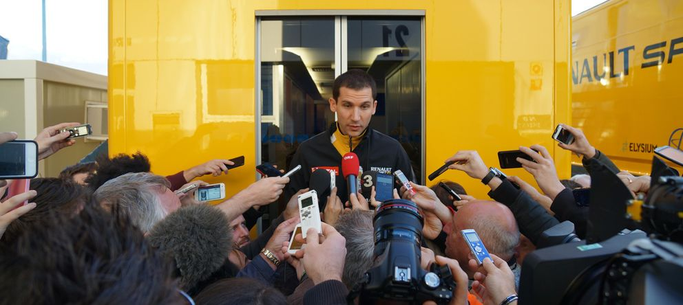 Foto: Rémi Taffin en su rueda de prensa en Jerez.