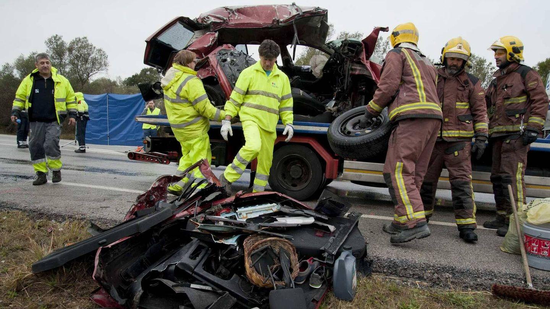 Un grave accidente ocurrido hace unos años en Girona. (EFE)