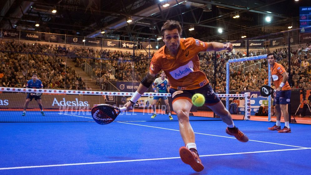 Foto: Fernando Belasteguín, durante la semifinal de este sábado en Madrid. (EFE)