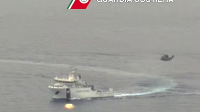 Foto: Labores de rescate en el Mediterráneo