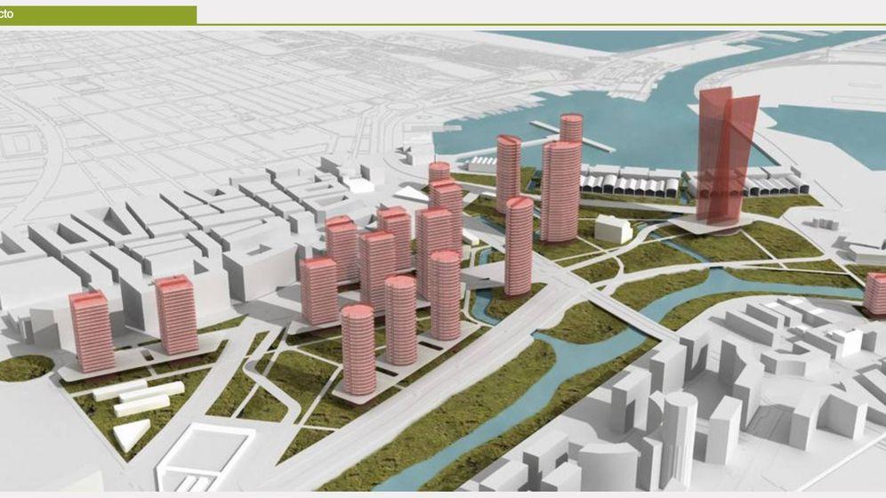 Foto: El proyecto del PAI de Grao presentado en 2007. El ayuntamiento ya lo ha modificado y tiene previsto reformularlo. (Tomás-Llavador)