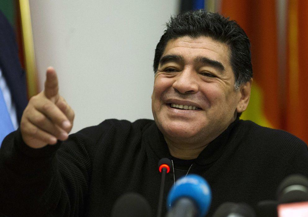 Foto: Maradona en una reciente conferencia de prensa (Efe).