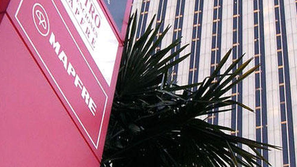 Foto: Logo del edificio de Mapfre a las faldas de Torre Picasso