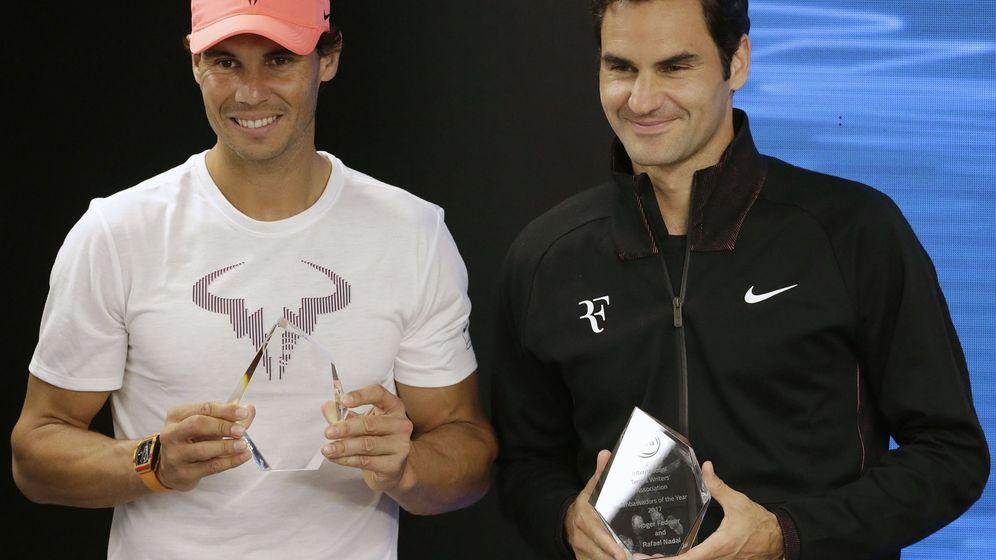 Foto: Nadal y Federer, en Melbourne. (EFE)