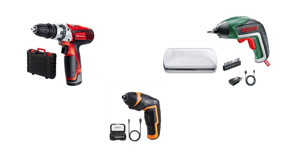 Los mejores atornilladores eléctricos del mercado para todo tipo de materiales