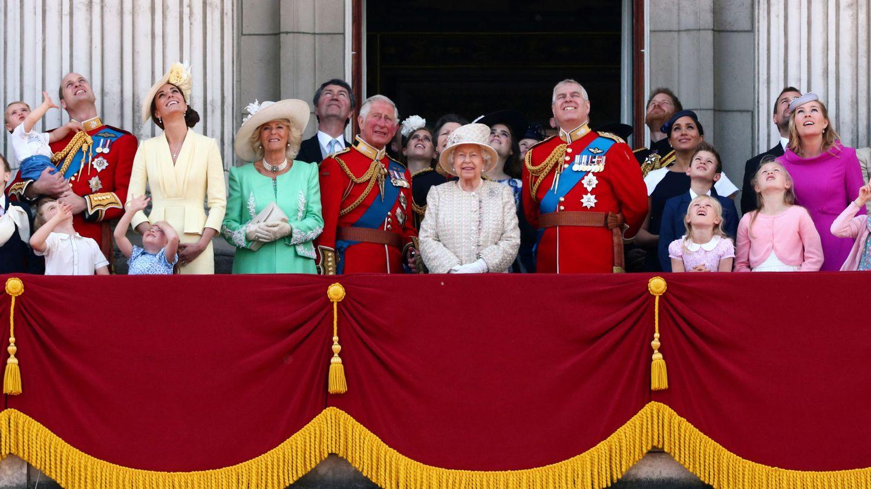 La familia real celebra el Trooping the Colour. (Reuters)