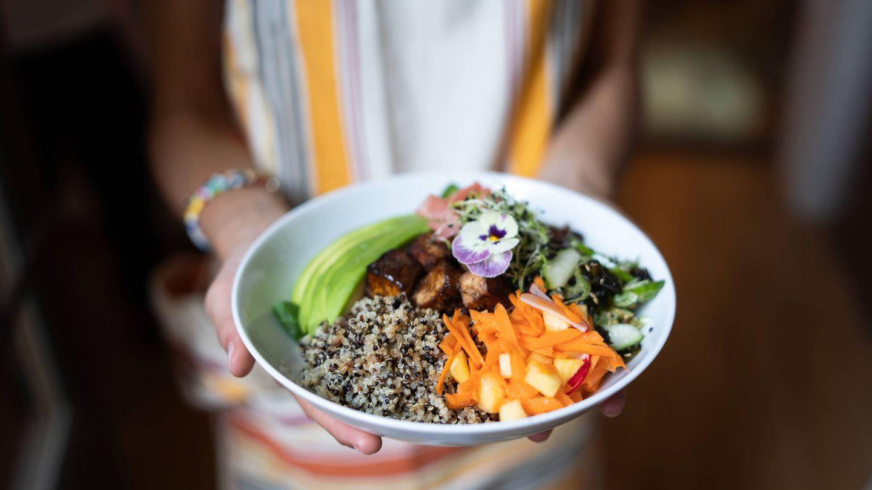 Una imagen de sus platos saludables. (Cortesía)