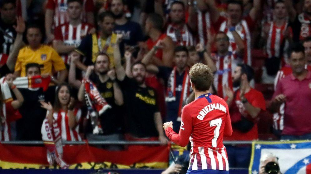 Foto: El delantero francés del Atlético de Madrid, Antoine Griezmann, celebra un gol del equipo rojiblanco. (EFE)