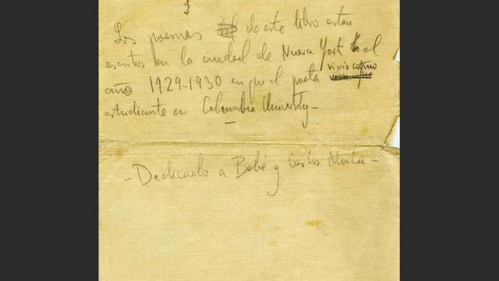 Los manuscritos de 'Poeta en Nueva York', de F. García Lorca