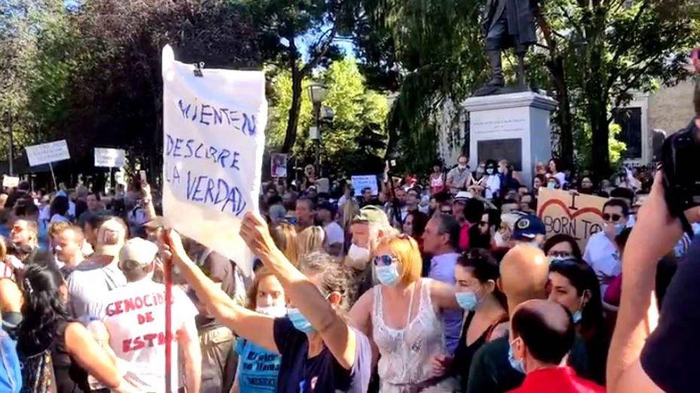Foto: Cientos de personas se manifiestan en Colón.