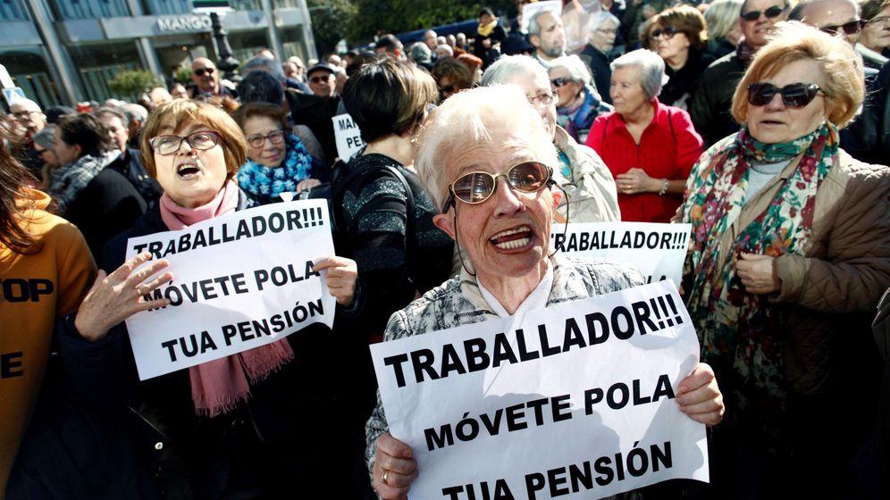 Foto: Manifestación en defensa de las pensiones públicas.