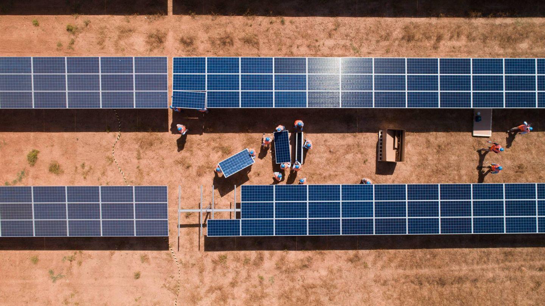 Construcción de un parque solar fotovoltaico. (Cedida)