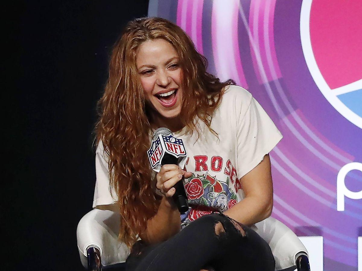 Foto:  Shakira, en la presentación de la Super Bowl. (EFE)