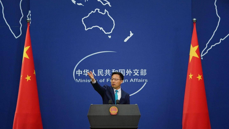 El portavoz Zhao Lijian. (EFE)