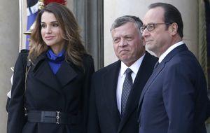 Rania de Jordania participa en la marcha antiterrorista de París