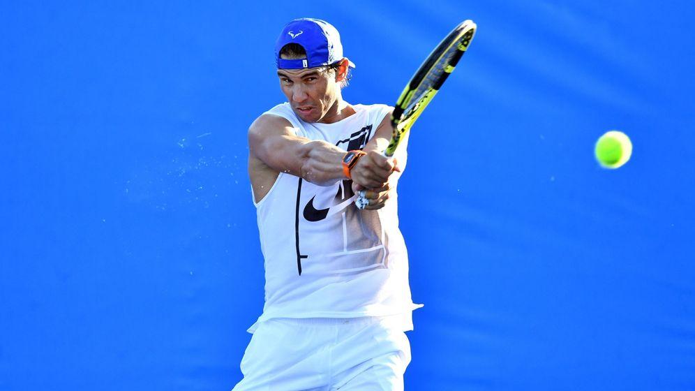 Foto: Rafa Nadal, durante un entrenamiento en Australia la temporada pasada. (EFE)